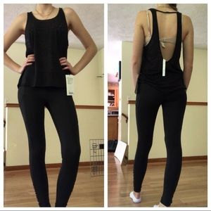 Brand New Lululemon Black Cutout Back Tank Size 8